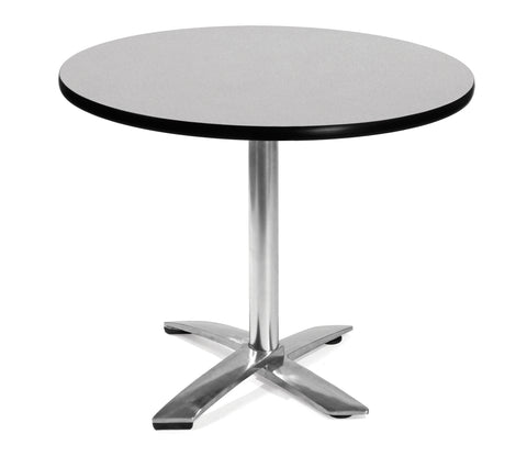 "OFM Model FT36RD 36"" Round Flip-Top Multi-Purpose Table, Gray Nebula ; UPC: 811588010011 ; Image 1"