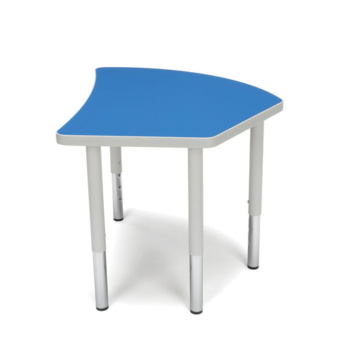 OFM Adapt Series Crescent Student Table - 18-26? Height Adjustable Desk, Blue (CREST-SL) ; UPC: 845123096260 ; Image 5