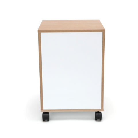 OFM Essentials 3-Drawer Wheeled Mobile Pedestal Cabinet, Harvest (ESS-1030-HVT) ; UPC: 845123090619 ; Image 3