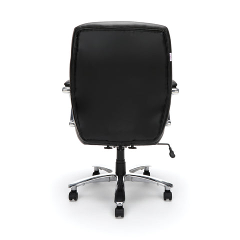 OFM Avenger Series Model 811-LX Leather Mid-Back Big and Tall Executive Chair, Black ; UPC: 845123009918 ; Image 3