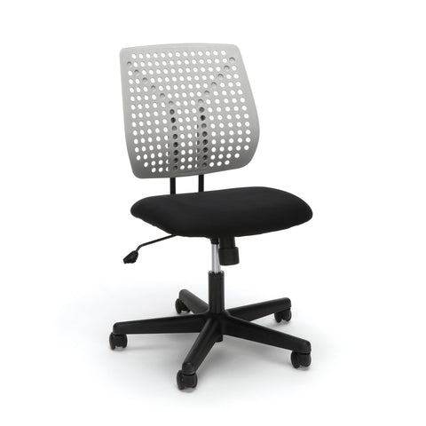 Essentials by OFM ESS-2050 Plastic Back Task Chair, Black with Gray ; UPC: 845123092996 ; Image 1