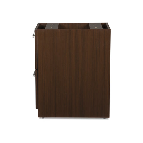 OFM Fulcrum Series Locking Pedestal, 2-Drawer Filing Cabinet, Espresso (CL-FF-ESP) ; UPC: 845123097489 ; Image 5