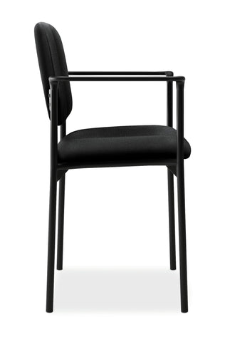 HON Scatter Guest Chair - Upholstered Stacking Chair with Arms, Office Furniture, Black (VL616) ; UPC: 645162996220 ; Image 4