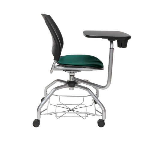 OFM Stars Foresee Series Tablet Chair with Removable Fabric Seat Cushion - Student Desk Chair, Forest Green (329T) ; UPC: 845123094273 ; Image 4