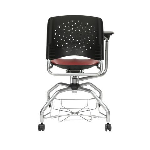 OFM Stars Foresee Series Tablet Chair with Removable Vinyl Seat Cushion - Student Desk Chair, Wine (329T-VAM) ; UPC: 845123094310 ; Image 3