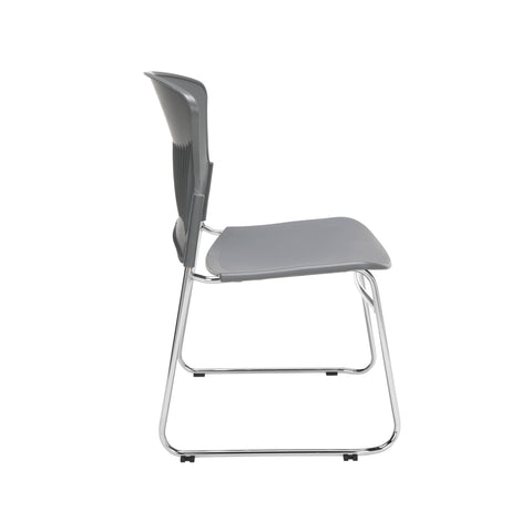 OFM Multi-Use Model 310-P Stack Chair with Plastic Seat and Back, Gray ; UPC: 811588013869 ; Image 4