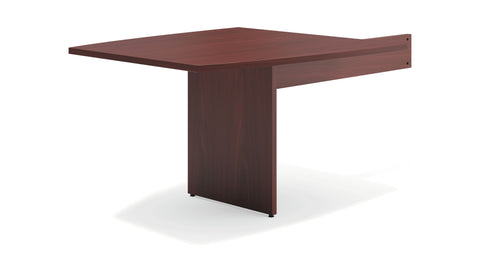 "HON Modular Conference Table, Boat End, 48""W x 96""D, Mahogany (BSXBLMT48B) ; UPC: 641128329071 ; Image 1"