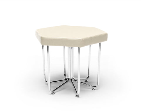 OFM 66-LIN Hex Series Stool with Chrome Frame ; UPC: 845123080030 ; Image 1