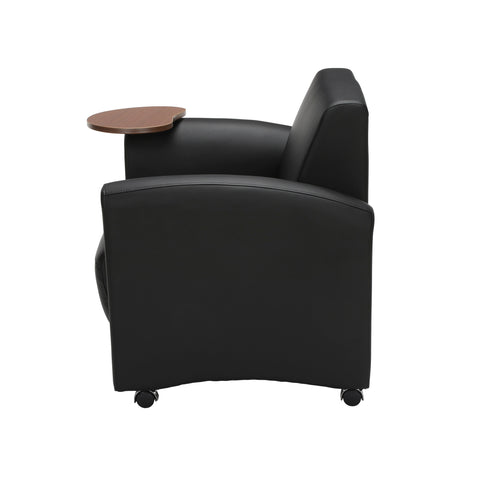 OFM InterPlay Series Single Seat Chair with Bronze Tablet, in Black (821-PU606-BRONZ) ; UPC: 845123031018 ; Image 5