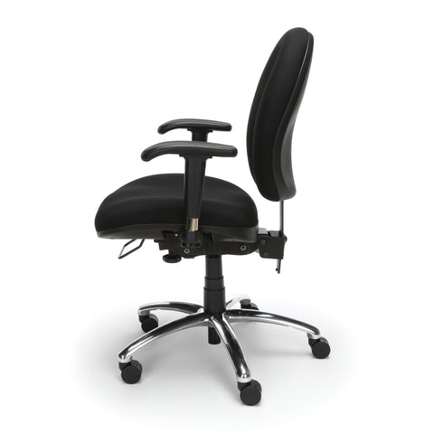 OFM 24 Hour Big and Tall Ergonomic Task Chair - Computer Desk Swivel Chair with Arms, Black (247) ; UPC: 845123031377 ; Image 5