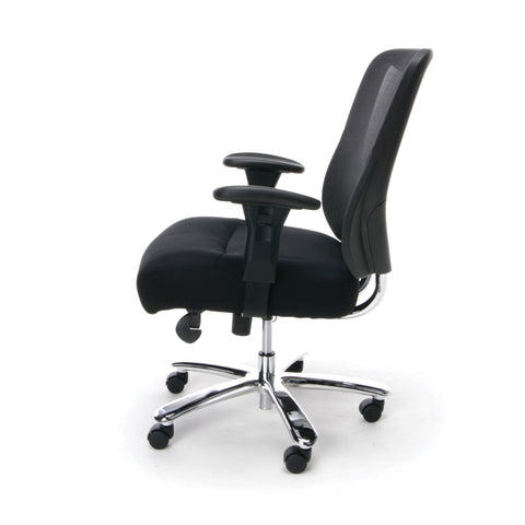 Essentials by OFM ESS-200 Big and Tall Swivel Mesh Office Chair with Arms, Black/Chrome ; UPC: 845123080115 ; Image 5
