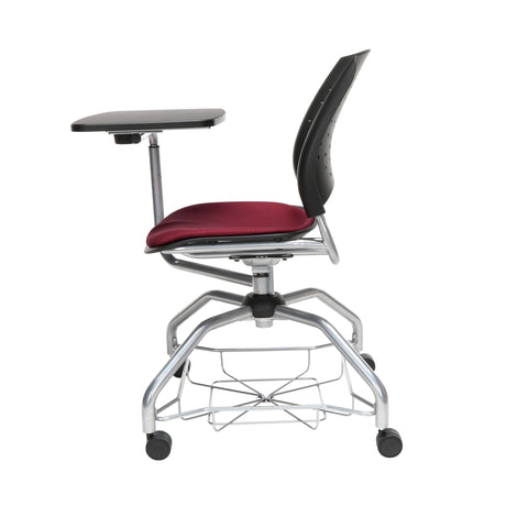 OFM Stars Foresee Series Tablet Chair with Removable Fabric Seat Cushion - Student Desk Chair, Burgundy (329T) ; UPC: 845123094235 ; Image 5