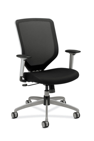 HON Boda High-Back Work Chair- Mesh Computer Chair for Office Desk, Black (H01) ; UPC: 020459729581 ; Image 1