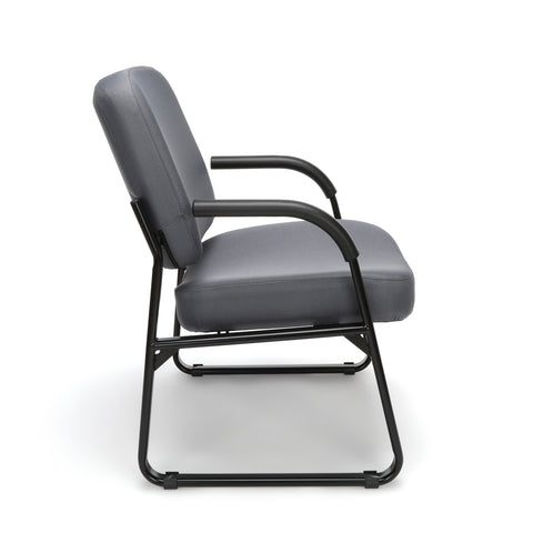 OFM Model 407 Fabric Big and Tall Guest and Reception Chair with Arms, Gray ; UPC: 845123028551 ; Image 4