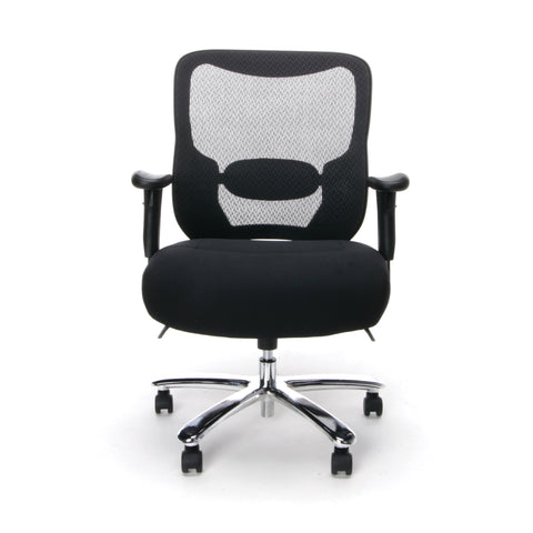 Essentials by OFM ESS-200 Big and Tall Swivel Mesh Office Chair with Arms, Black/Chrome ; UPC: 845123080115 ; Image 2