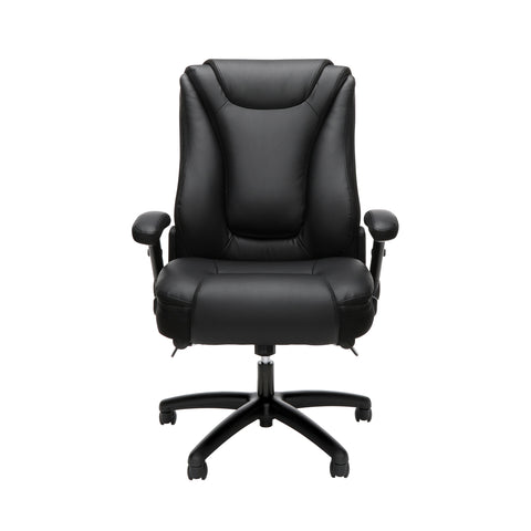 OFM Essentials Series Ergonomic Executive Bonded Leather Office Chair, in Black(ESS-6047-BLK) ; UPC: 192767000314 ; Image 2