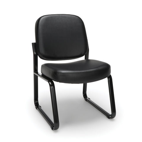 OFM Model 405-VAM Armless Guest and Reception Chair, Anti-Microbial/Anti-Bacterial Vinyl, Black ; UPC: 811588014361 ; Image 1
