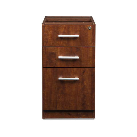 OFM Fulcrum Series Locking Pedestal, 3-Drawer Filing Cabinet, Cherry (CL-BBF-CHY) ; UPC: 845123097465 ; Image 2