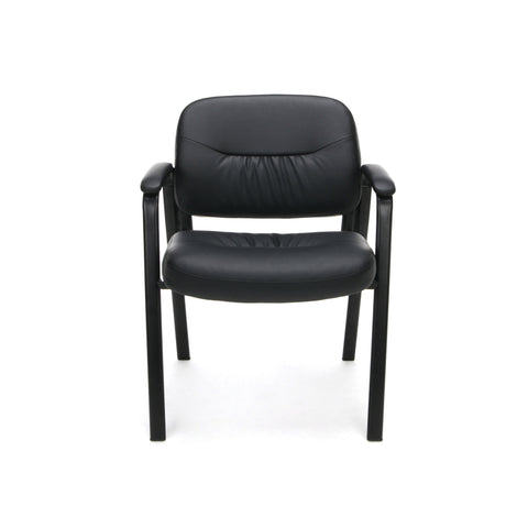 Essentials by OFM ESS-9010 Bonded Leather Executive Side Chair, Black ; UPC: 845123089408 ; Image 2