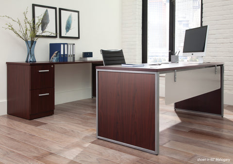 OFM Fulcrum Series Locking Pedestal, 2-Drawer Filing Cabinet, Mahogany (CL-FF-MHG) ; UPC: 845123097496 ; Image 9