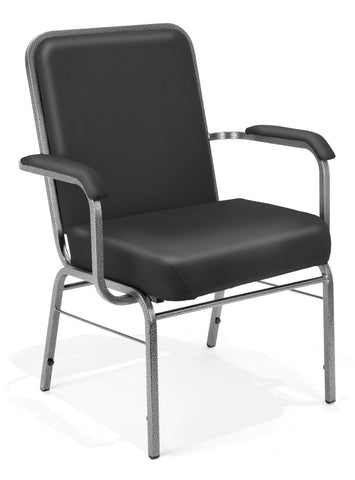 OFM Core Collection Model 300-XL-VAM Big and Tall Comfort Class Series Vinyl Stacking Guest / Reception Chair with Arms ; UPC: 845123030400 ; Image 1