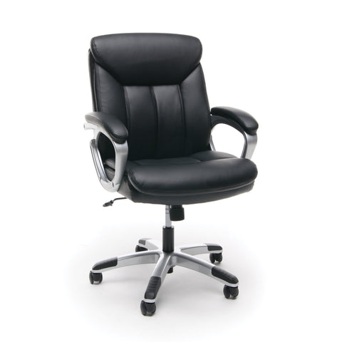 Essentials by OFM ESS-6020 Executive Office Chair, Black with Silver Frame ; UPC: 089191013860 ; Image 1