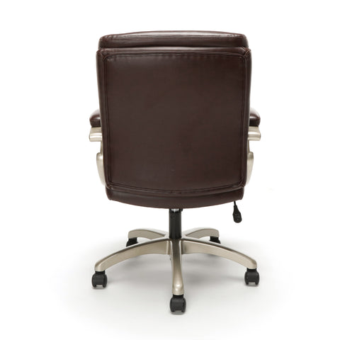 Essentials by OFM ESS-6020 Executive Office Chair, Brown with Champagne Frame ; UPC: 845123093269 ; Image 3