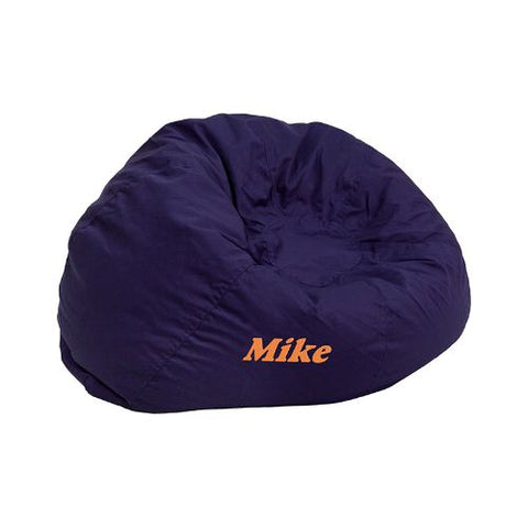 Flash Furniture Personalized Small Solid Navy Blue Kids Bean Bag Chair DGBEANSMALLSOLIDBLEMBGG ; Image 1 ; UPC 847254074261