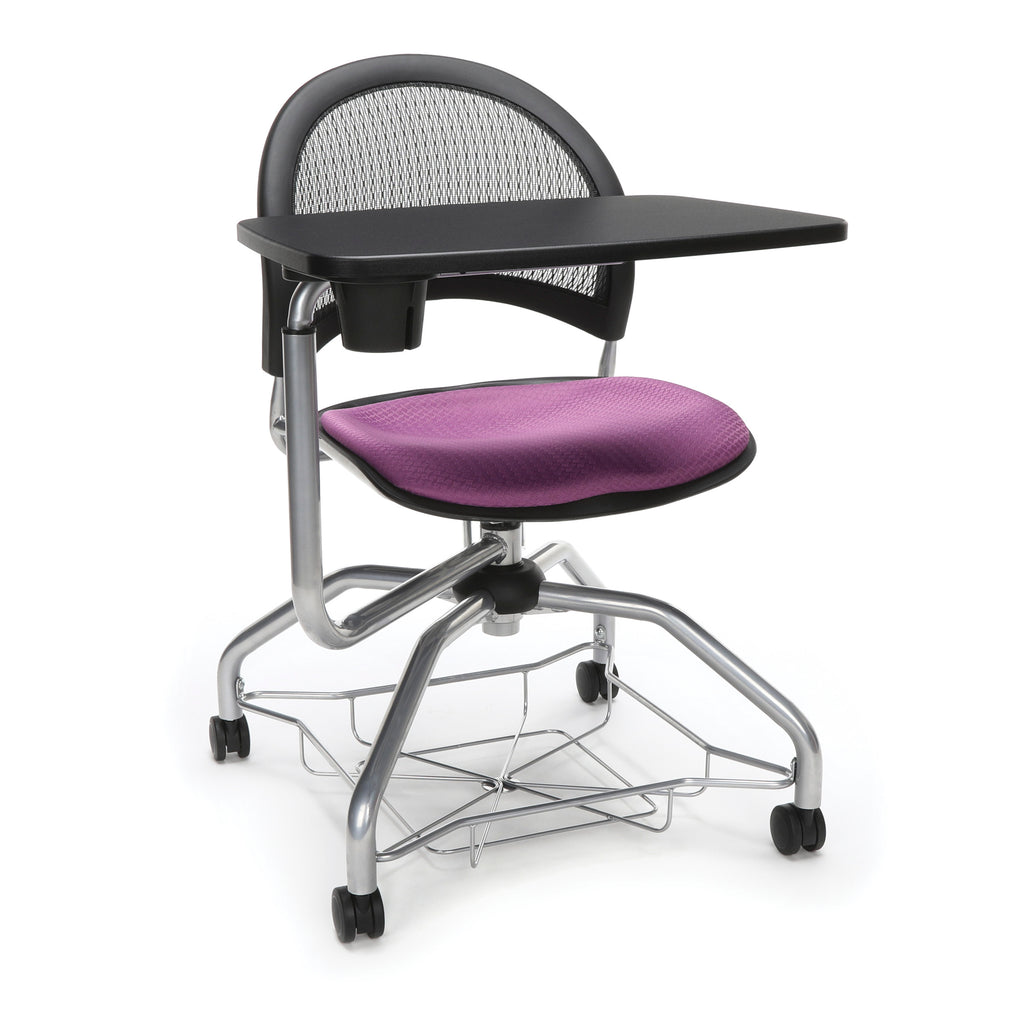OFM Moon Foresee Series Tablet Chair with Removable Fabric Seat Cushion - Student Desk Chair, Plum (339T) ; UPC: 845123094693 ; Image 1