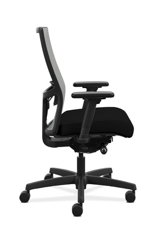 HON Ignition 2.0 Mid-Back Adjustable Lumbar Work Chair - Fog Mesh Computer Chair for Office Desk, Black Fabric (HONI2M2AFLC10TK) ; UPC: 888206730880 ; Image 4