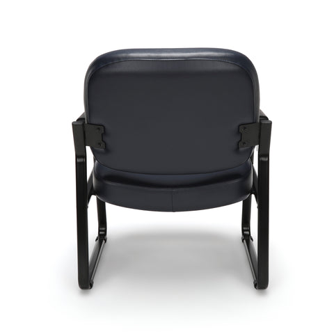 OFM Model 407-VAM Big and Tall Guest and Reception Chair with Arms, Anti-Microbial/Anti-Bacterial Vinyl, Navy ; UPC: 845123028612 ; Image 3