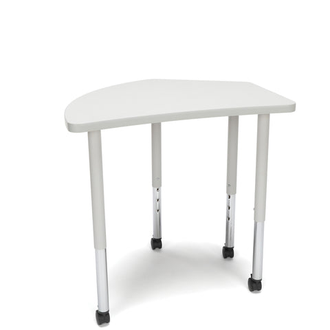 OFM Adapt Series Crescent Standard Table - 25-33? Height Adjustable Desk with Casters , Gray Nebula (CREST-LLC) ; UPC: 845123096550 ; Image 1