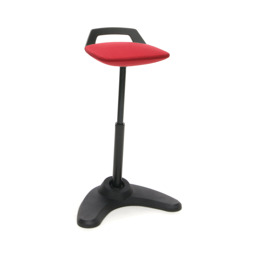 OFM VIVO Adjustable Height Bar Stools - Contemporary Perch Stool Chair, Red with Black Trim (2800-BLK-RED) ; UPC: 845123090923 ; Image 1