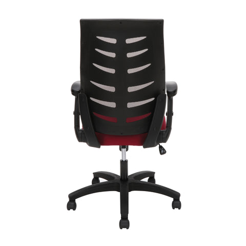 OFM Model 530-BURG Core Collection Midback Mesh Office Chair for Computer Desk, Burgundy ; UPC: 192767000345 ; Image 3