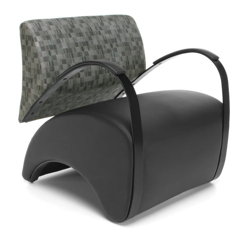 OFM 841-NCKL-PU606 Lounge Chair with Fabric Back and Pu Seat ; UPC: 845123004319 ; Image 1