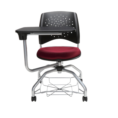 OFM Stars Foresee Series Tablet Chair with Removable Fabric Seat Cushion - Student Desk Chair, Burgundy (329T) ; UPC: 845123094235 ; Image 2