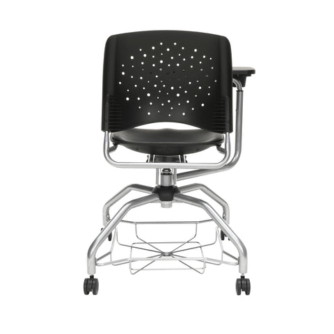 OFM Stars Foresee Series Tablet Chair with Removable Vinyl Seat Cushion - Student Desk Chair, Black (329T-VAM) ; UPC: 845123094341 ; Image 3