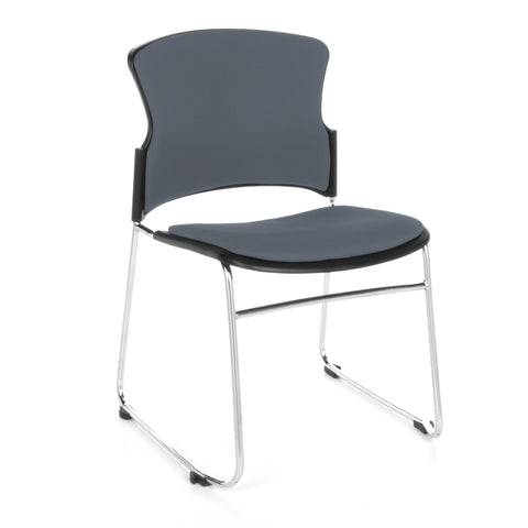 OFM Multi-Use Stack Chair with Fabric Seat, Gray ; UPC: 811588013821 ; Image 1