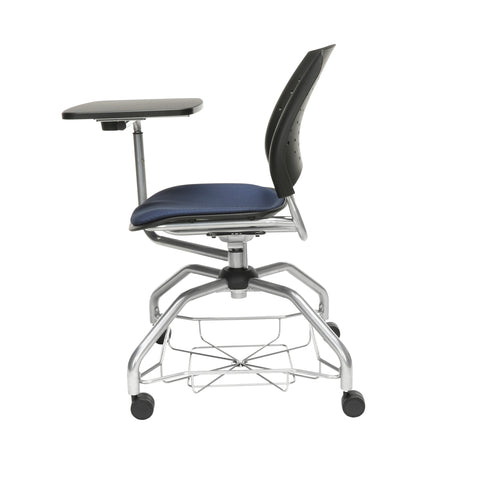 OFM Stars Foresee Series Tablet Chair with Removable Fabric Seat Cushion - Student Desk Chair, Navy (329T) ; UPC: 845123094150 ; Image 5