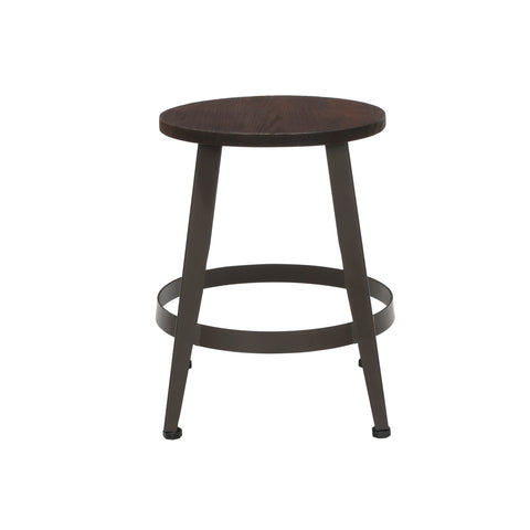 "OFM Core Collection Edge Series 18"" Table Height Metal Stool, in Walnut (33918W-WLT) ; UPC: 192767002431 ; Image 5"
