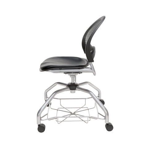 OFM Moon Foresee Series Chair with Removable Vinyl Seat Cushion - Student Chair, Black (339-VAM) ; UPC: 845123094563 ; Image 5