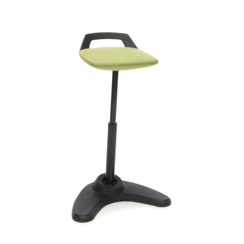 OFM VIVO Adjustable Height Bar Stool - Contemporary Perch Stool Chair, Green with Black Trim (2800-BLK-GRN) ; UPC: 845123090893 ; Image 1