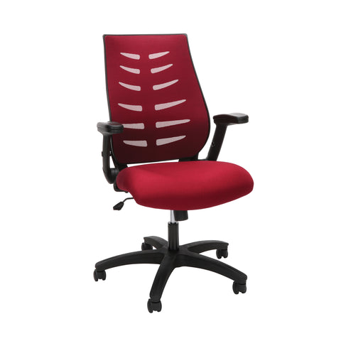OFM Model 530-BURG Core Collection Midback Mesh Office Chair for Computer Desk, Burgundy ; UPC: 192767000345 ; Image 1
