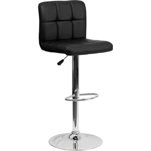 Flash Furniture Contemporary Black Quilted Vinyl Adjustable Height Barstool with Chrome Base DS810MODBKGG ; Image 1 ; UPC 847254023948