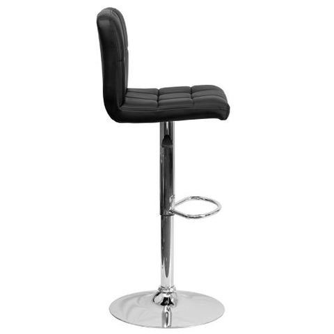Flash Furniture Contemporary Black Quilted Vinyl Adjustable Height Barstool with Chrome Base DS810MODBKGG ; Image 3 ; UPC 847254023948