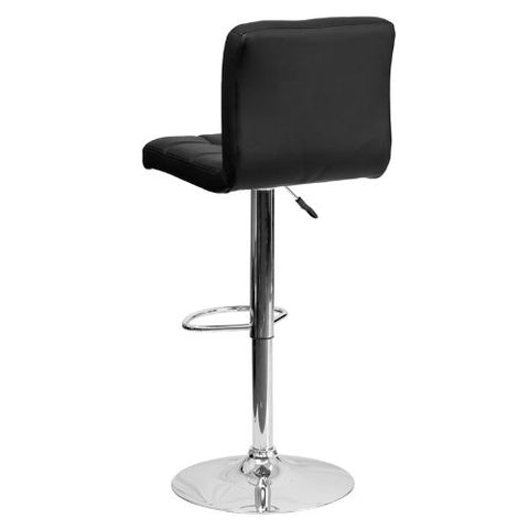 Flash Furniture Contemporary Black Quilted Vinyl Adjustable Height Barstool with Chrome Base DS810MODBKGG ; Image 4 ; UPC 847254023948