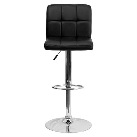 Flash Furniture Contemporary Black Quilted Vinyl Adjustable Height Barstool with Chrome Base DS810MODBKGG ; Image 5 ; UPC 847254023948