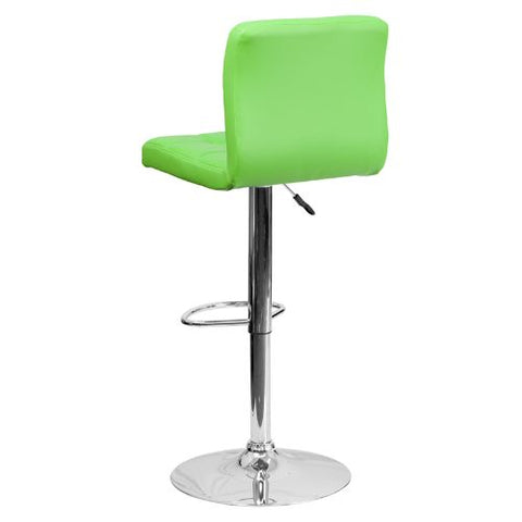 Flash Furniture Contemporary Green Quilted Vinyl Adjustable Height Barstool with Chrome Base DS810MODGRNGG ; Image 4 ; UPC 847254023979