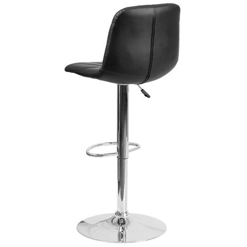 Flash Furniture Contemporary Black Vinyl Adjustable Height Barstool with Embellished Stitch Design and Chrome Base DS8220BKGG ; Image 4 ; UPC 889142056607
