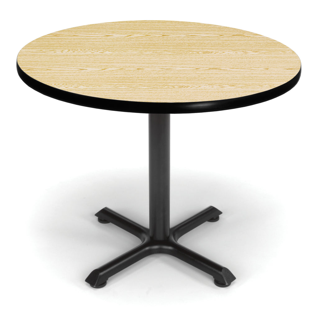 "OFM XT36RD-OAK Round Multi-Purpose Table, 36"", Oak ; UPC: 845123031971 ; Image 1"